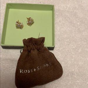 Brand New Ross Simon Starburst Earrings
